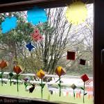Osterfenster im Waldorfkindergarten Baden-Baden