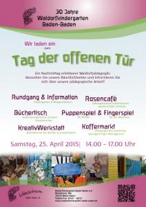 Tag der offenen Tür 2015 im Waldorfkindergarten Baden-Baden