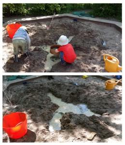 Sandkastenspiel im Waldorfkindergarten Baden-Baden