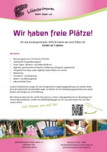Freie Plätze im Waldorfkindergarten Baden-Baden 2015/16