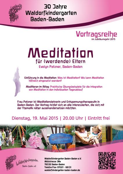 Vortrag Meditation im Waldorfkindergarten Baden-Baden