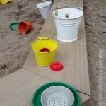 Sandkasten im Waldorfkindergarten Baden-Baden
