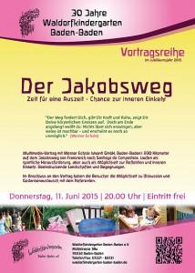 Vortrag Jakobsweg im Waldorfkindergarten Baden-Baden