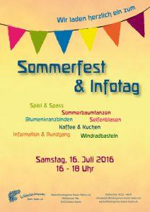 Sommerfest im Waldorfkindergarten Baden-Baden e.V.